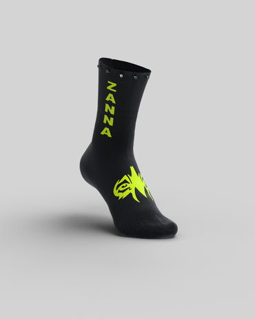 "Black & Y-Fluo | ""Studded"" Sock - ZANNA"