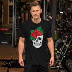 Load image into Gallery viewer, Rose and Skull Men T-Shirt