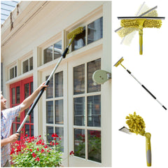 DocaPole 5-12 Foot Extension Pole + Dual Squeegee & Window Washer Combo