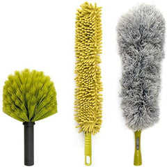 DocaPole Dusting Kit for Extension Pole or by Hand Cobweb Fan Microfiber