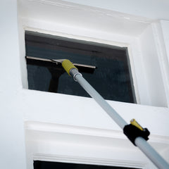12ft DocaPole + Pro Window Squeegee (3 Medium Sized Blades)