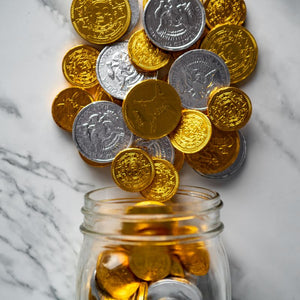 MILK CHOCOLATE COINS - 8oz.