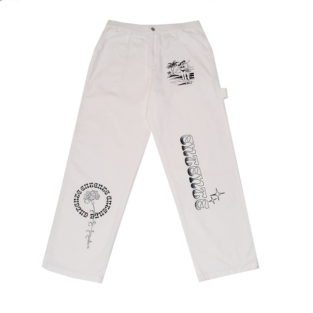Carpenter Trousers in White