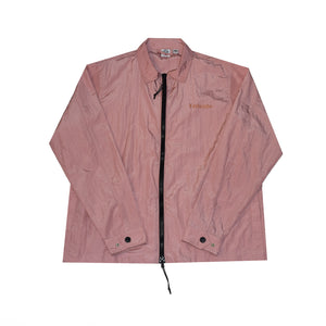 Coach jacket in dusty pink with logo