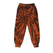 Load image into Gallery viewer, Joggers in orange and black tie dye