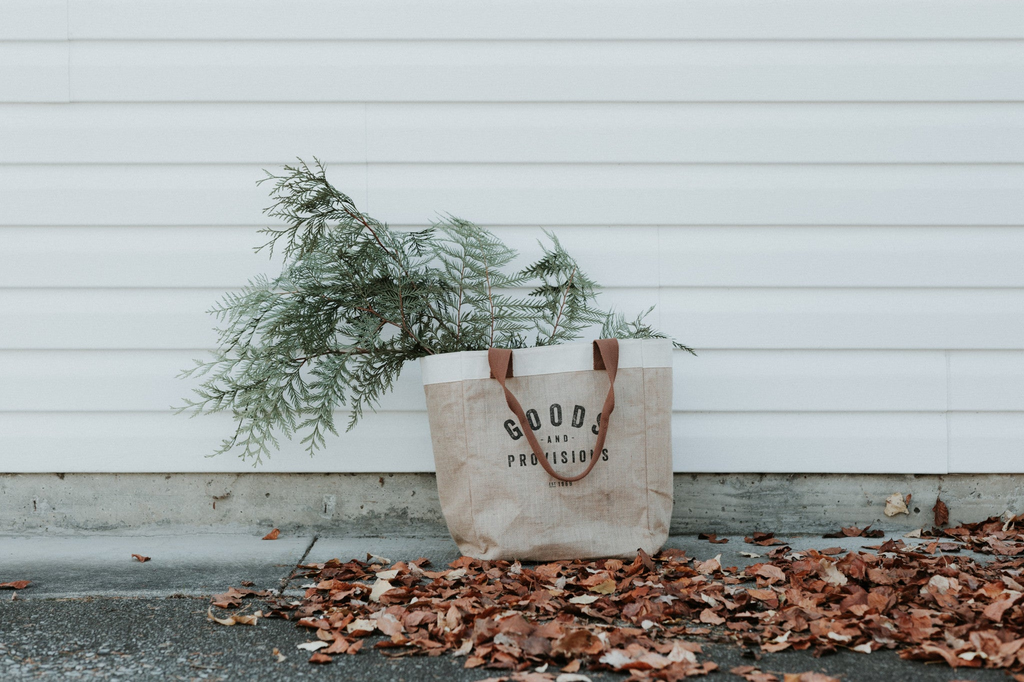 Shopping bag in autumn representing Green Friday