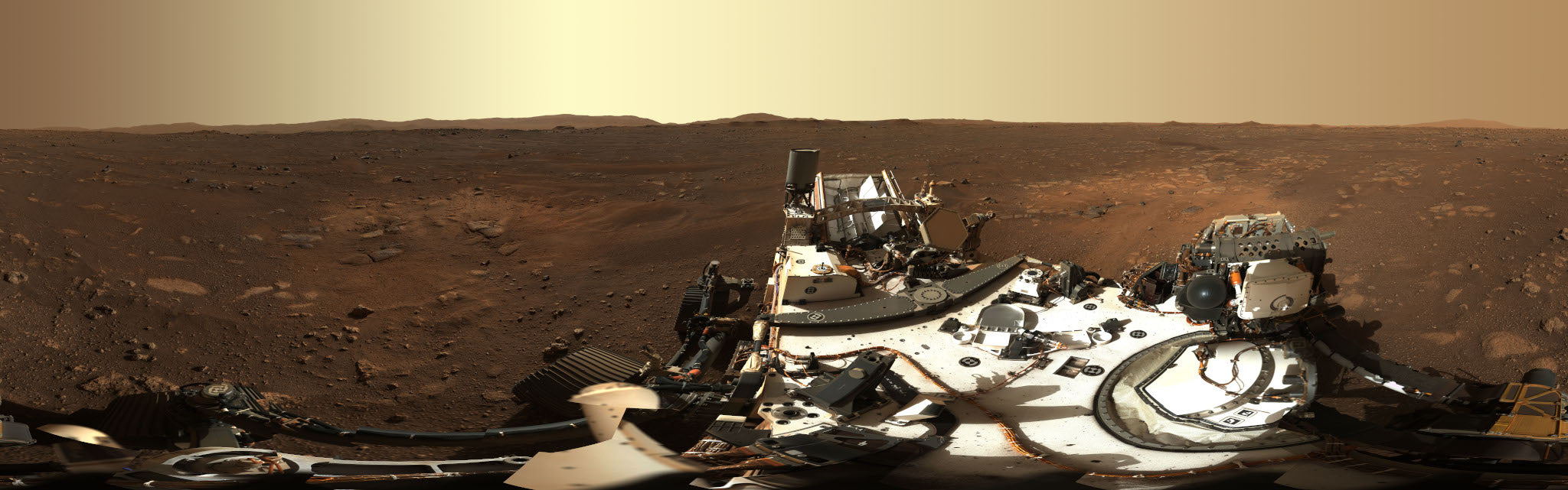 Panoramic picture from NASA Perseverence on Mars
