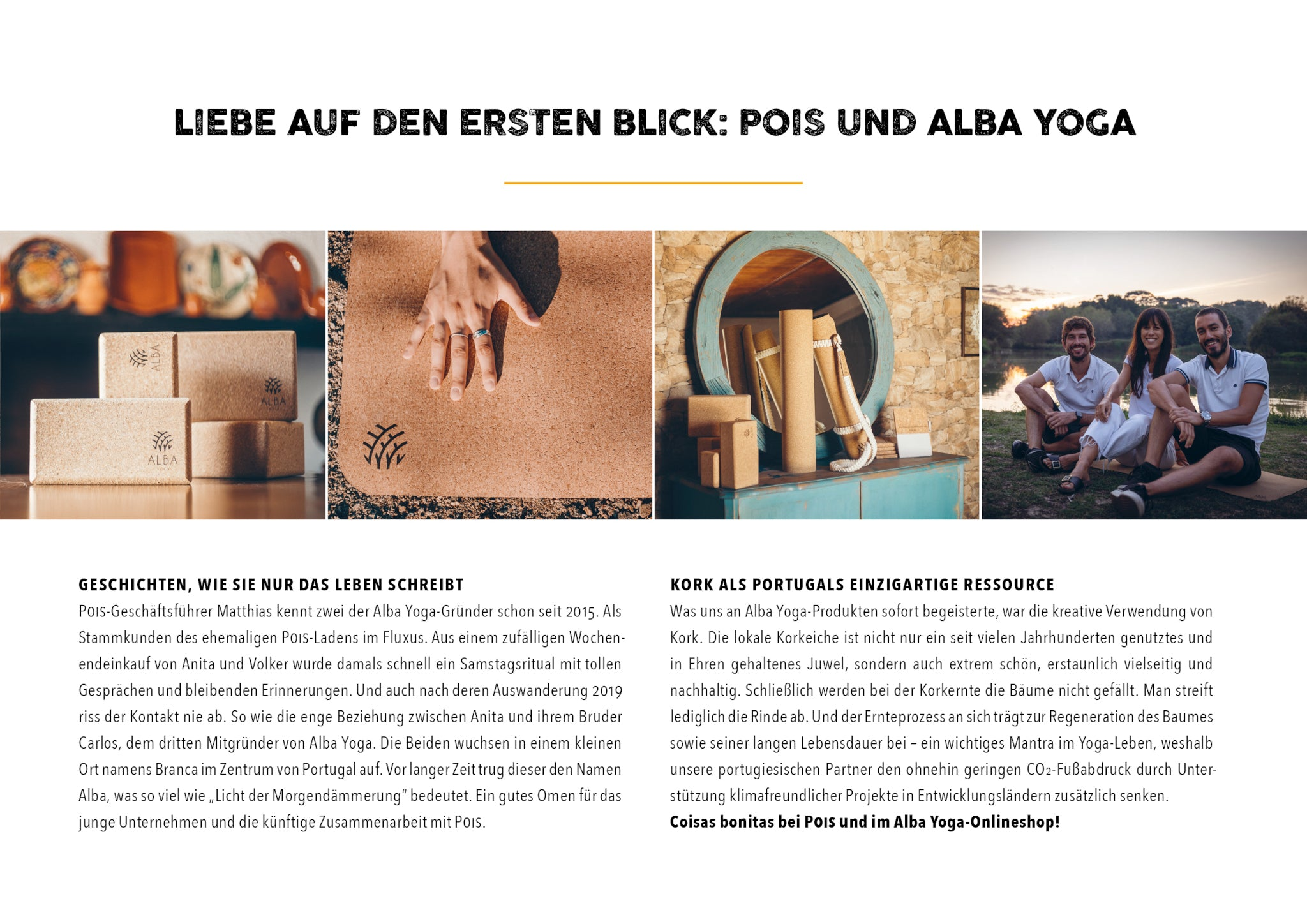 Pois and Alba Yoga flayer with founders