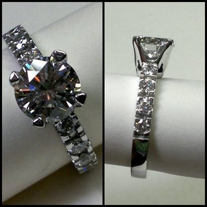 18k White Gold with Moissanite Diamonds (On Special)
