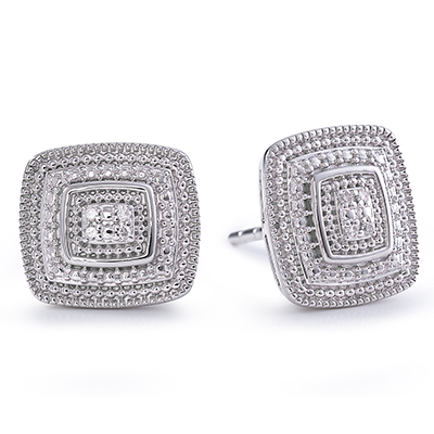 Diamonds And White Gold Studs
