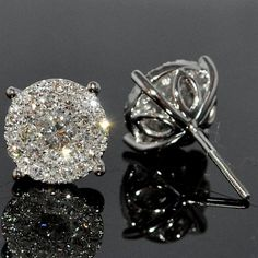 18ct White Gold and Diamond Studs