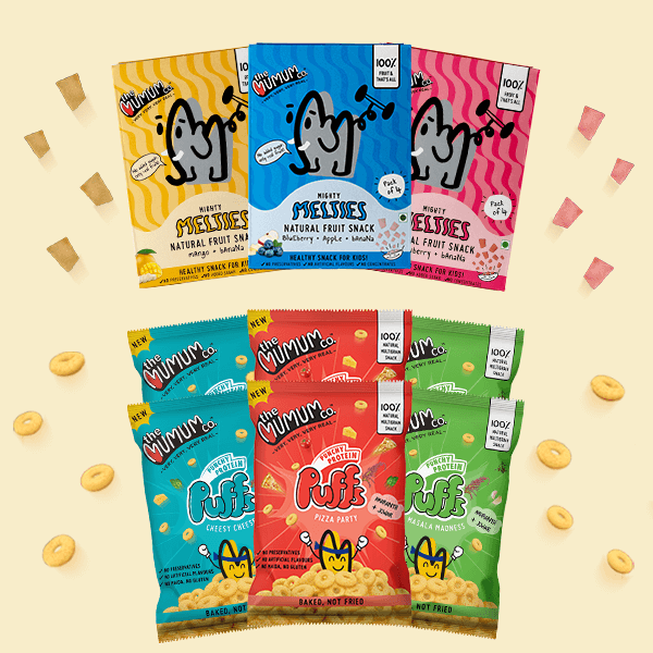 Protein Puffs and Melties Combo - Small Pack of 9