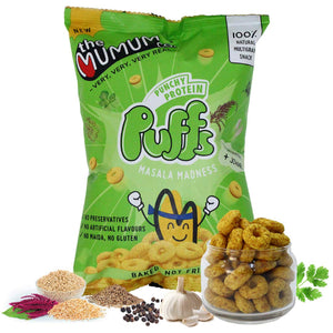 Punchy Protein Puffs - Masala Madness - Pack of 6
