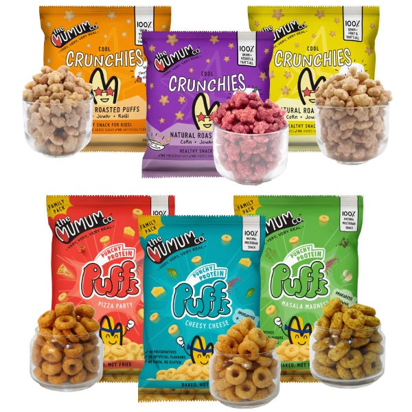 Crunchies and Protein Puffs Combo - Pack of 6
