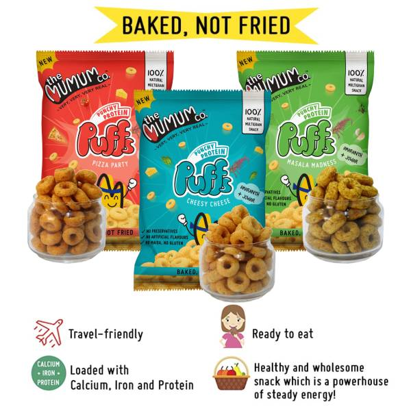 Punchy Protein Puffs - Variety Combo - Family Pack of 3