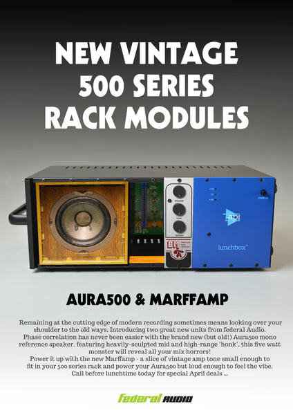 Vintage 500 series modules - new at Federal Audio