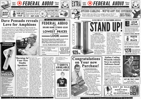 Federal Audio Insert News Brochure