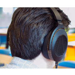 Audeze EL-8 Open-Back Headphones FedAud wearing