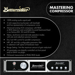 Bettermaker Mastering Compressor Info at Federal Audio