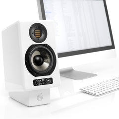 ADAM Audio AX Stands at work on the desktop
