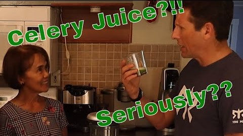 How to make Celery Juice and Why to Drink it. - S1E2