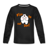 Nice to eat you - Kinder Langarmshirt - Schwarz