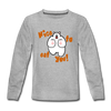 Nice to eat you - Kinder Langarmshirt - Grau meliert