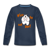 Nice to eat you - Kinder Langarmshirt - Navy