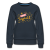 Miss Berlin - Frauen Premium Sweatshirt - Navy