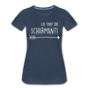 Ick find dir scharmant - Frauen Premium T-Shirt - Navy