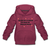 Ick find dir so hübsch - Kinder Premium Hoodie - Bordeaux