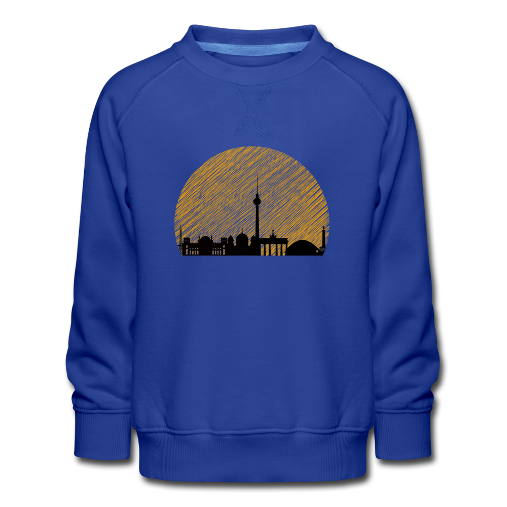 Berliner Skyline - Kinder Premium Sweatshirt - Royalblau