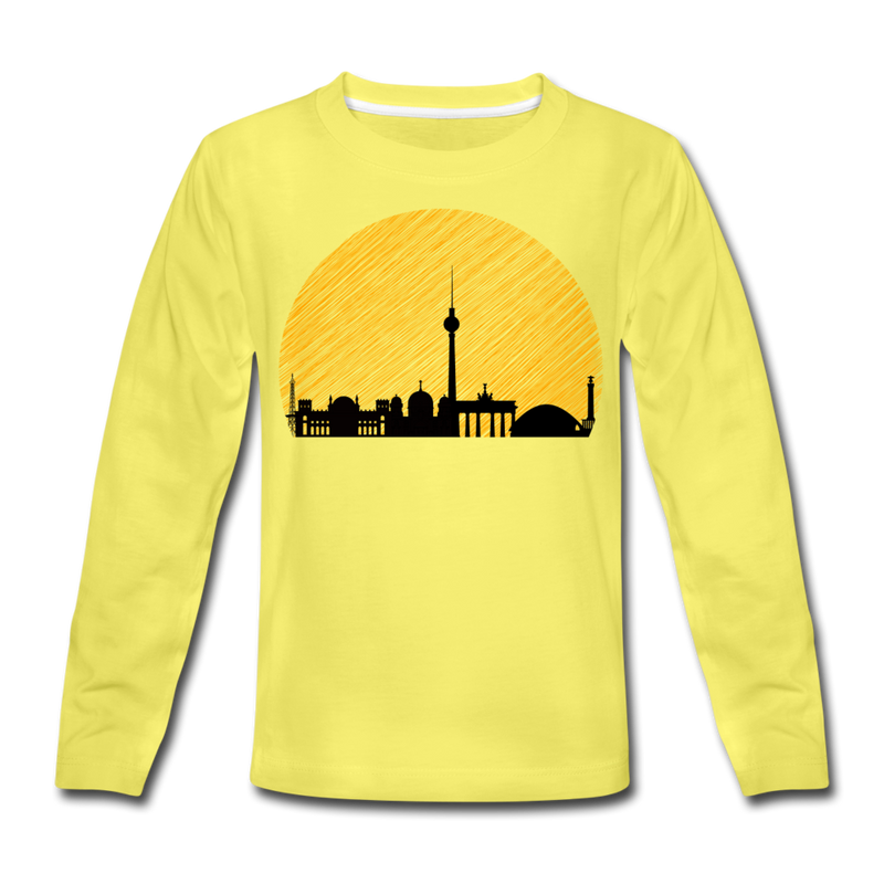 Berliner Skyline - Kinder Langarmshirt - Navy