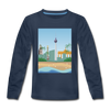 Berlin am Meer - Kinder Langarmshirt - Navy