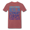 Charlottenburg - Earth - Männer Premium T-Shirt - washed Burgundy