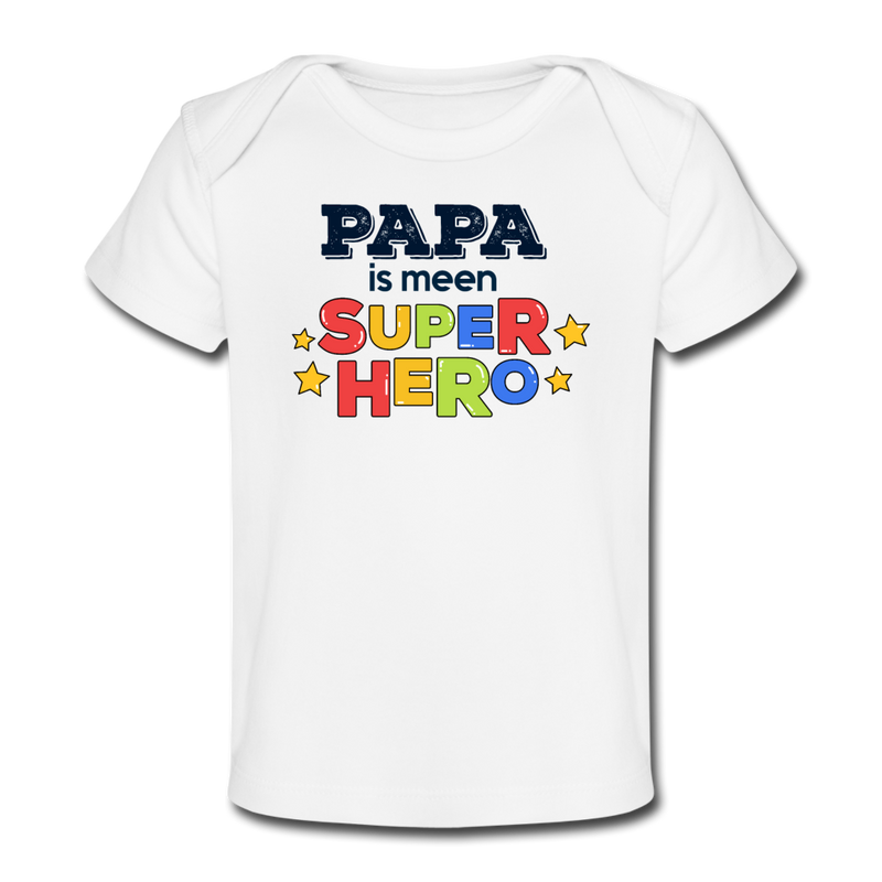 Super Hero - Baby Bio T-Shirt - Hellrosa
