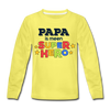 Super Hero - Kinder Langarmshirt - Gelb