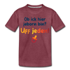 Jeborn in Berlin - Teenager Premium T-Shirt - Bordeauxrot meliert