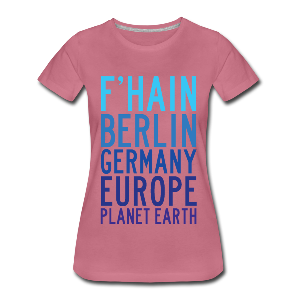 F'hain - Planet Earth - Frauen Premium T-Shirt - Malve