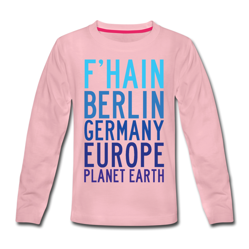 F'hain - Planet Earth - Kinder Langarmshirt - Weiß