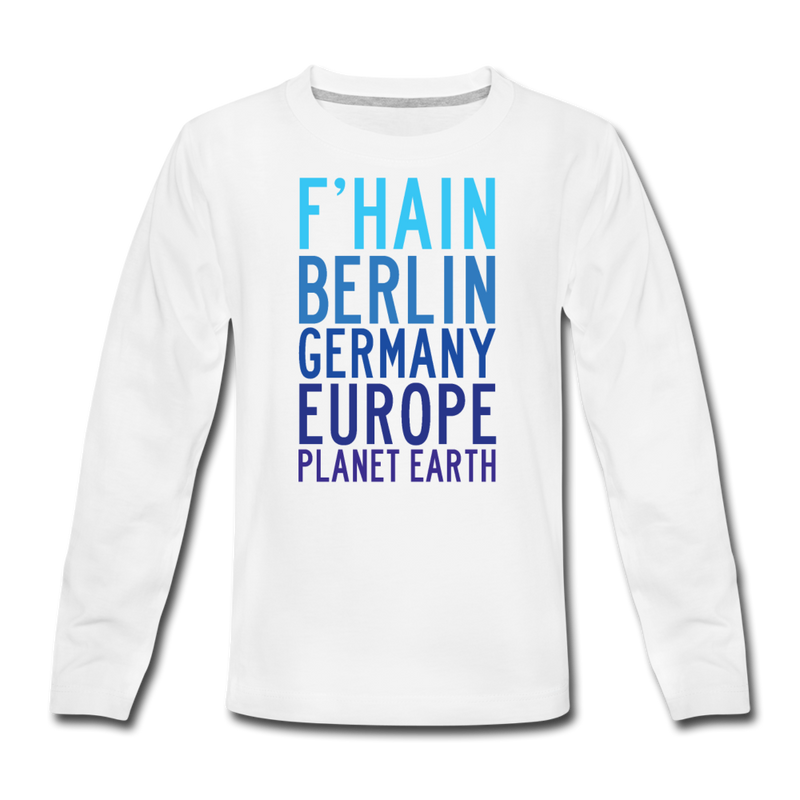 F'hain - Planet Earth - Teenager Langarmshirt - Anthrazit
