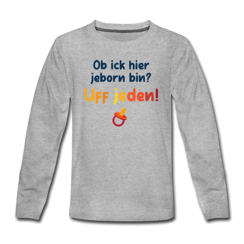 Jeborn in Berlin - Teenager Langarmshirt - Weiß