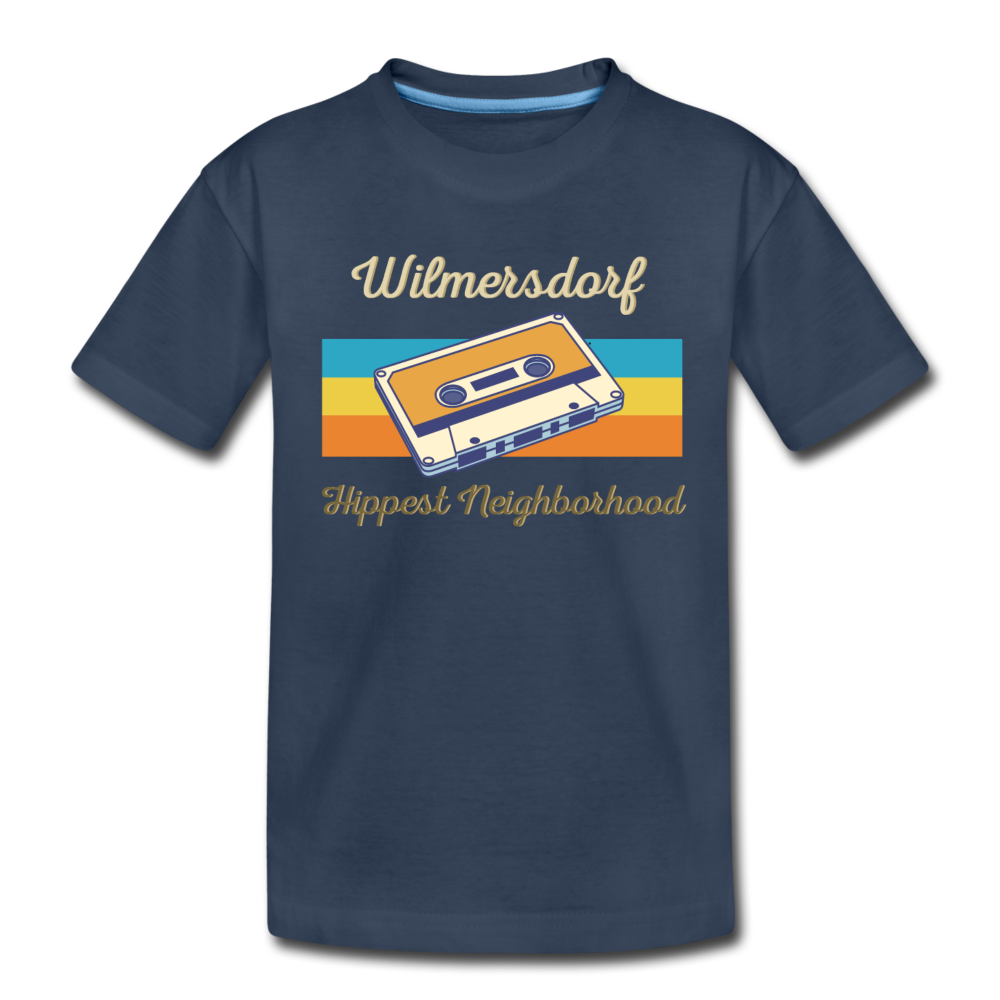 Wilmersdorf Hippest Neighborhood - Kinder Premium T-Shirt - navy