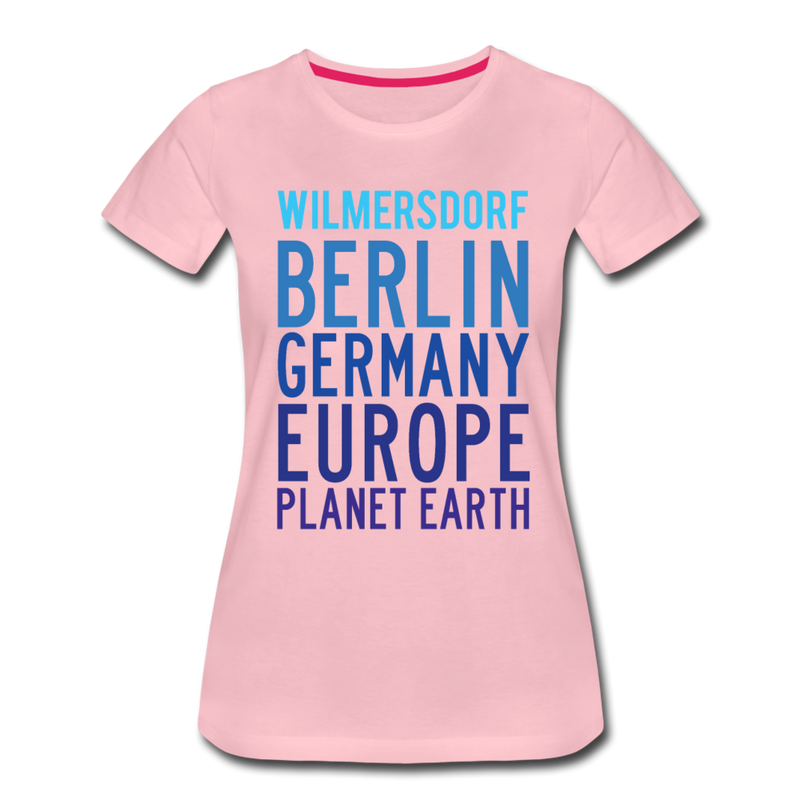 Wilmersdorf Planet Earth - Frauen Premium T-Shirt - heather grey