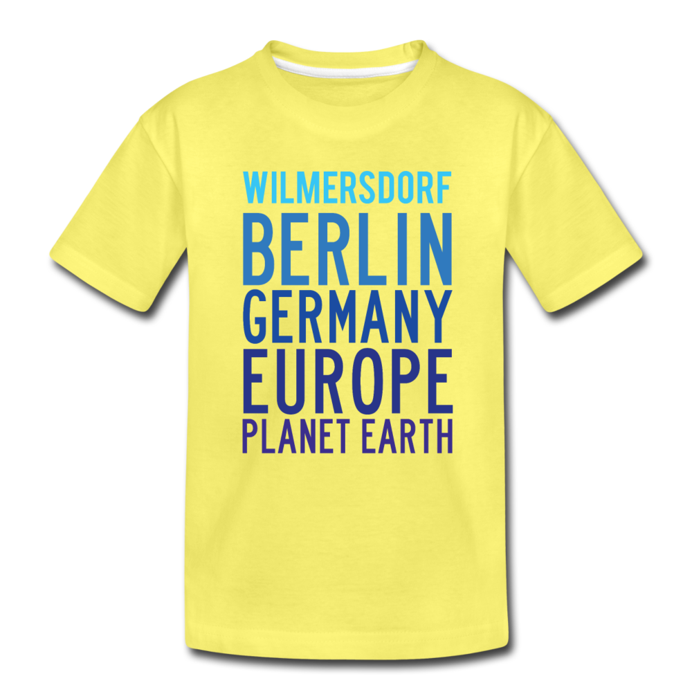 Wilmersdorf Planet Earth - Kinder Premium T-Shirt - yellow