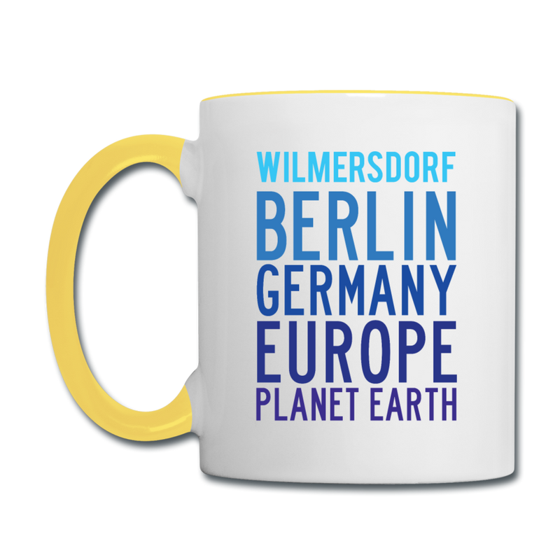 Wilmersdorf Planet Earth - Tasse zweifarbig - white/cobalt blue