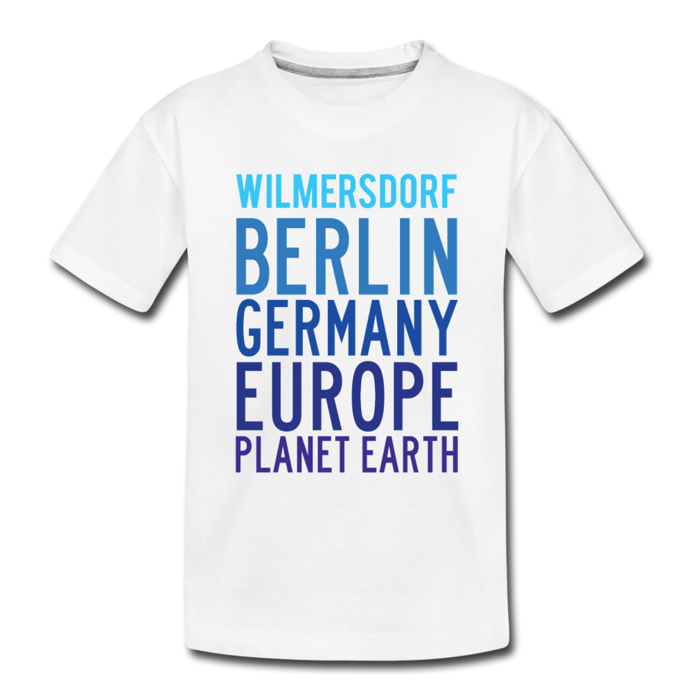 Wilmersdorf Planet Earth - Teenager Premium T-Shirt - white