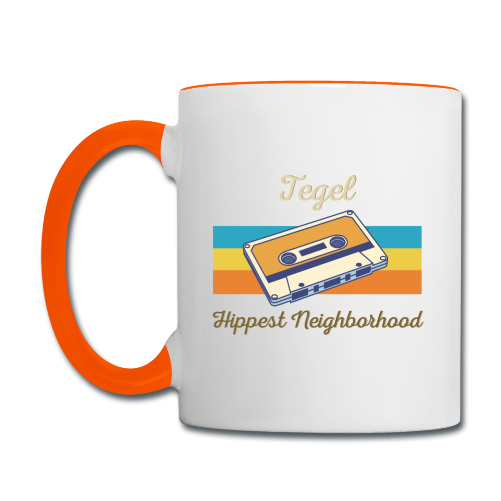 Tegel Hippest Neighborhood - Tasse zweifarbig - Weiß/Orange