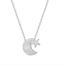 Load image into Gallery viewer, Moon & Star Celestial Necklace