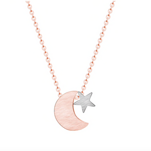 Moon & Star Celestial Necklace